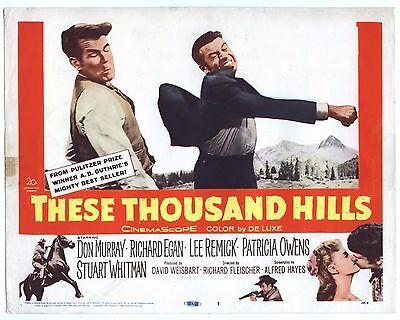 Rare Original VTG 1959 Don Murray These Thousand Hills 11x14 Movie Lobby Card