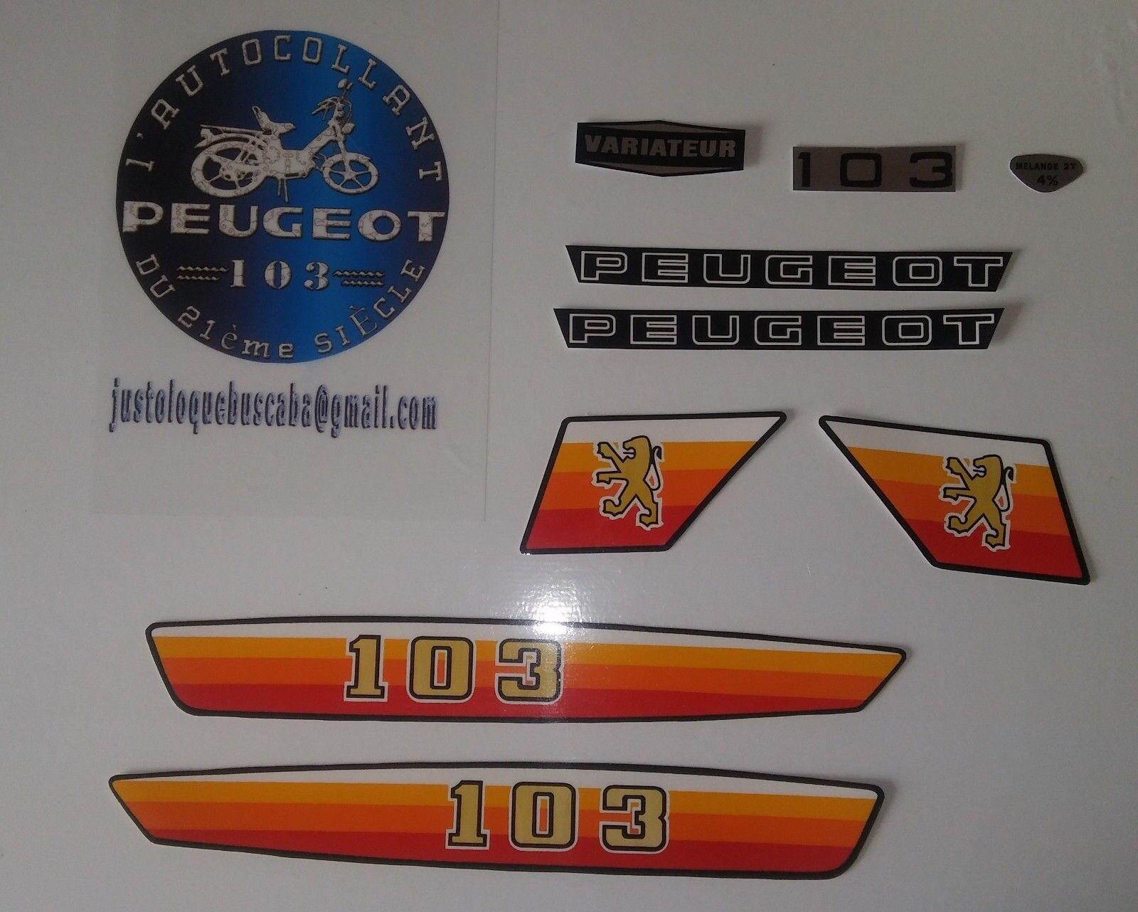Autocollant stickers Peugeot 103 MV/MVL/SPORT