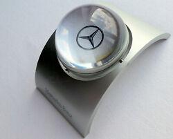 Mercedes Benz Classic Rotating Star Logo Retro Design Desk Business Office Clock