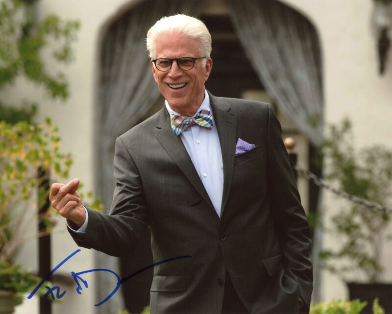 """Ted Danson """"The Good Place"""" AUTOGRAPH Signed 8x10 Photo B ACOA"""