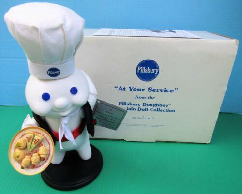 Danbury Mint Pillsbury Doughboy AT YOUR SERVICE Porcelain Doll Figurine w Box FS