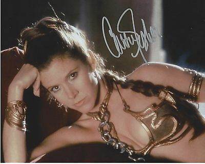 CARRIE FISHER Star Wars Signed 10x8 Photo from Return Of the Jedi Princess Leia