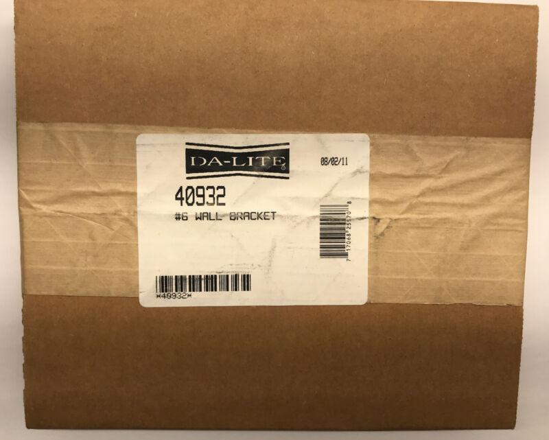 GENUINE DA-LITE 40932 - #6 WALL HANGING BRACKETS -PAIR -WHITE