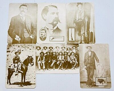 Vintage Old West Collectors Series Post Cards - Lot of 6