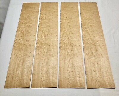 Birdseye Maple Wood Veneer 4 Sheets 29.5 X 6.5 5 Sq Ft