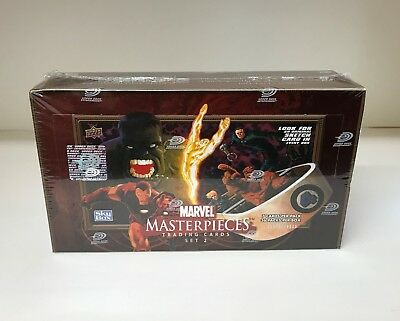 Marvel Masterpieces Series 2 - Sealed Trading Card Hobby Box - Upper Deck 2008