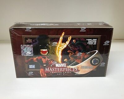 Marvel Masterpieces Series 2 - Sealed Trading Card Hobby Box - Upper Deck 2008 2 Trading Cards Hobby Box