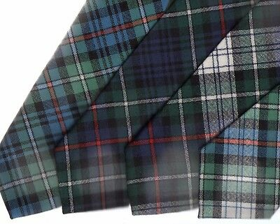 Tartan Tie Clan MacKenzie Or Pocket Square Scottish Wool -