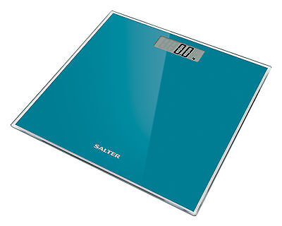 Salter Digital Bathroom Scale Toughened Glass Electronic Weight Scales Teal 9037