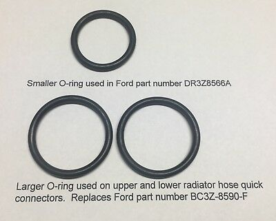 Replacement O-Rings for Ford DR-3Z8566-A and 2x BC3Z-8590-F    F150 coolant leak