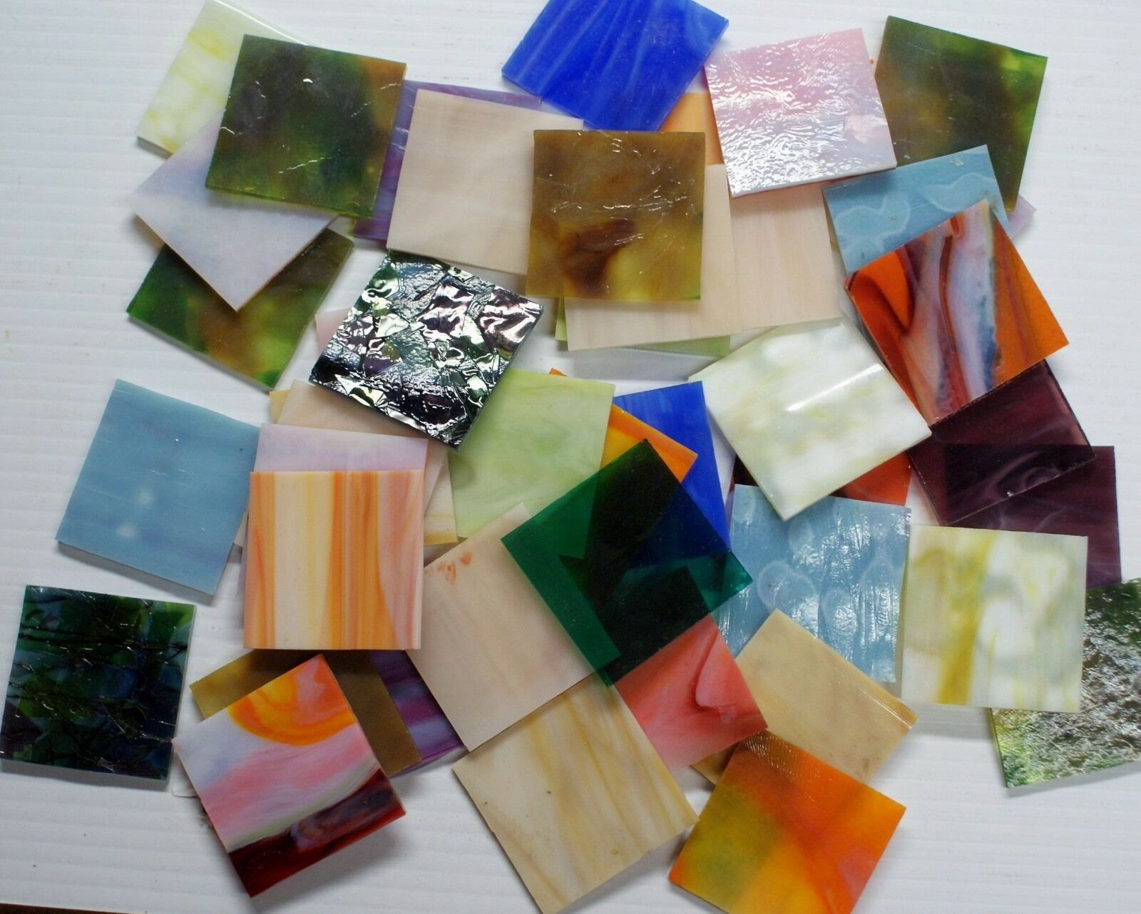 как выглядит NEW 15pcs not scrap STAINED GLASS STRIPS 8 x 2 SAMPLES UROBOROS hr mosaics фото