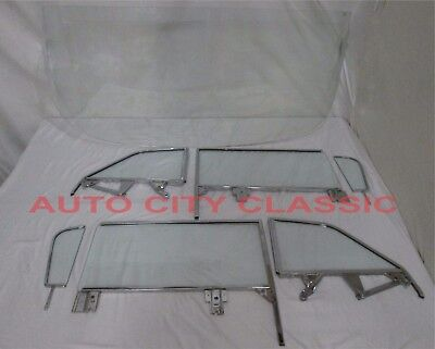 1959 1960 Chevy Convertible Glass Windshield Assm Vent Door Quarter Set Clear