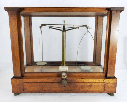 Antique Apothecary Pharmacy Chemist Balance Scale CHRISTIAN BECKER NY needs TLC