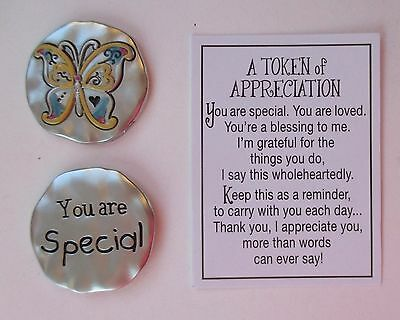 A Token Of Appreciation (i 2x You are special A TOKEN OF APPRECIATION Pocket charm Ganz person)