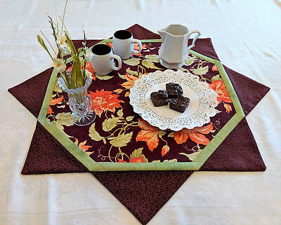 FLOWERS & CHOCOLATE Centerpiece Table Topper Quilt KIT -Backing +Fuse Fleece Inc
