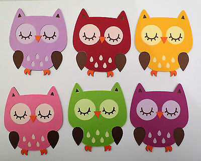 Cute Animal Owl Owls Paper Die Cut Scrapbook Embellishment Pick - Owl Scrapbook Paper