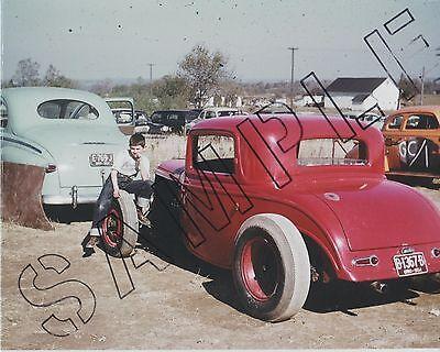 Vintage color hot rod photo Otie's Automotive Akron Cam Jammers 1932 Ford Argus