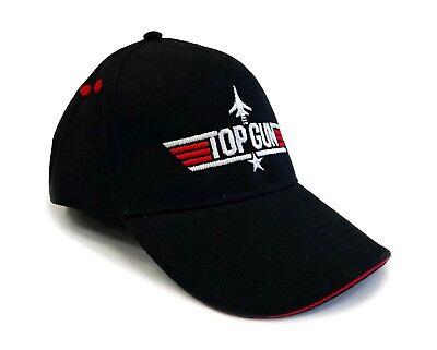 TopGun Red Contrast Embroidered Pilot Baseball Cap - Top Gun Logo Licenced Hat