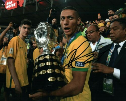 Brazil Richarlison Autographed Signed 8x10 Photo COA #1