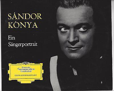 Sandor Konya Sonderauflage 1961Deutsche Grammophon 25 cm LP : Ein Sängerportrait
