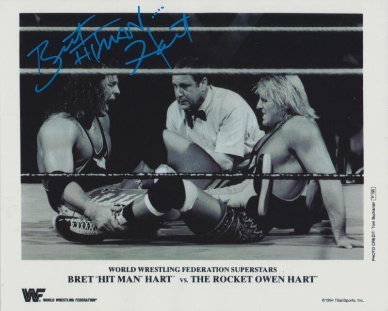 BRET THE HITMAN HART SIGNED WWE WWF 8X10 PHOTO 14
