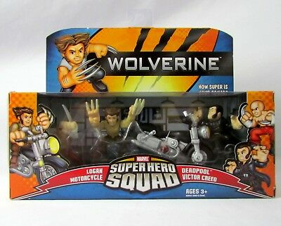 Marvel Superhero Squad Wolverine On The Run 4 Figure Set New Sealed Hasbro 2008](The Superhero Squad)