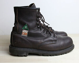 RED WING Work Safety Boots Mens Size 8 E ANSI USA and Canada CSA ...