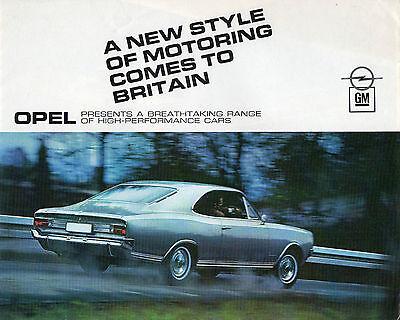 1968 Opel car range brochure: Opel Kadett, Olympia, Rekord & Commodore
