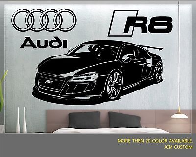 JCM Custom R8 GT Racing Sports Car Removable Wall Vinyl Decal Sticker for sale  Shipping to Canada