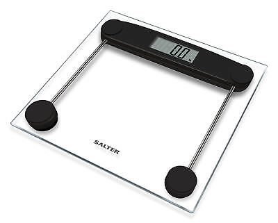 Salter Compact Electronic Bathroom Scales - Toughened Glass, Measure Body Weight