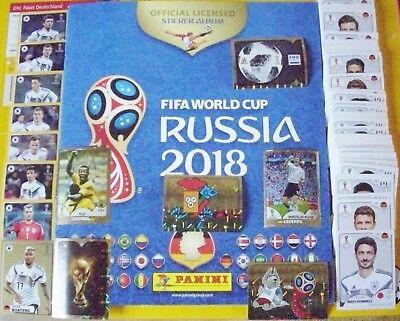 Fußball Album (Panini Fußball WM2018 Russia Komplett.-Satz 682 Sticker+Soft-,Leer-Album +Mc-Do.)