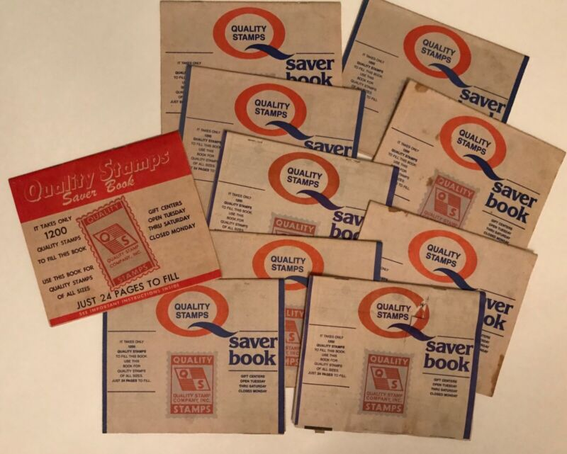 Quality Stamps Saver Books With Stamps Vintage Lot of 10