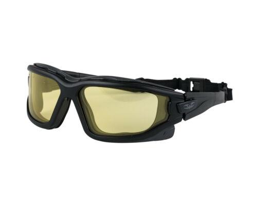 Valken V-TAC ZULU Airsoft Goggle Reg Fit Yellow thermal anti-fog dual pane lens