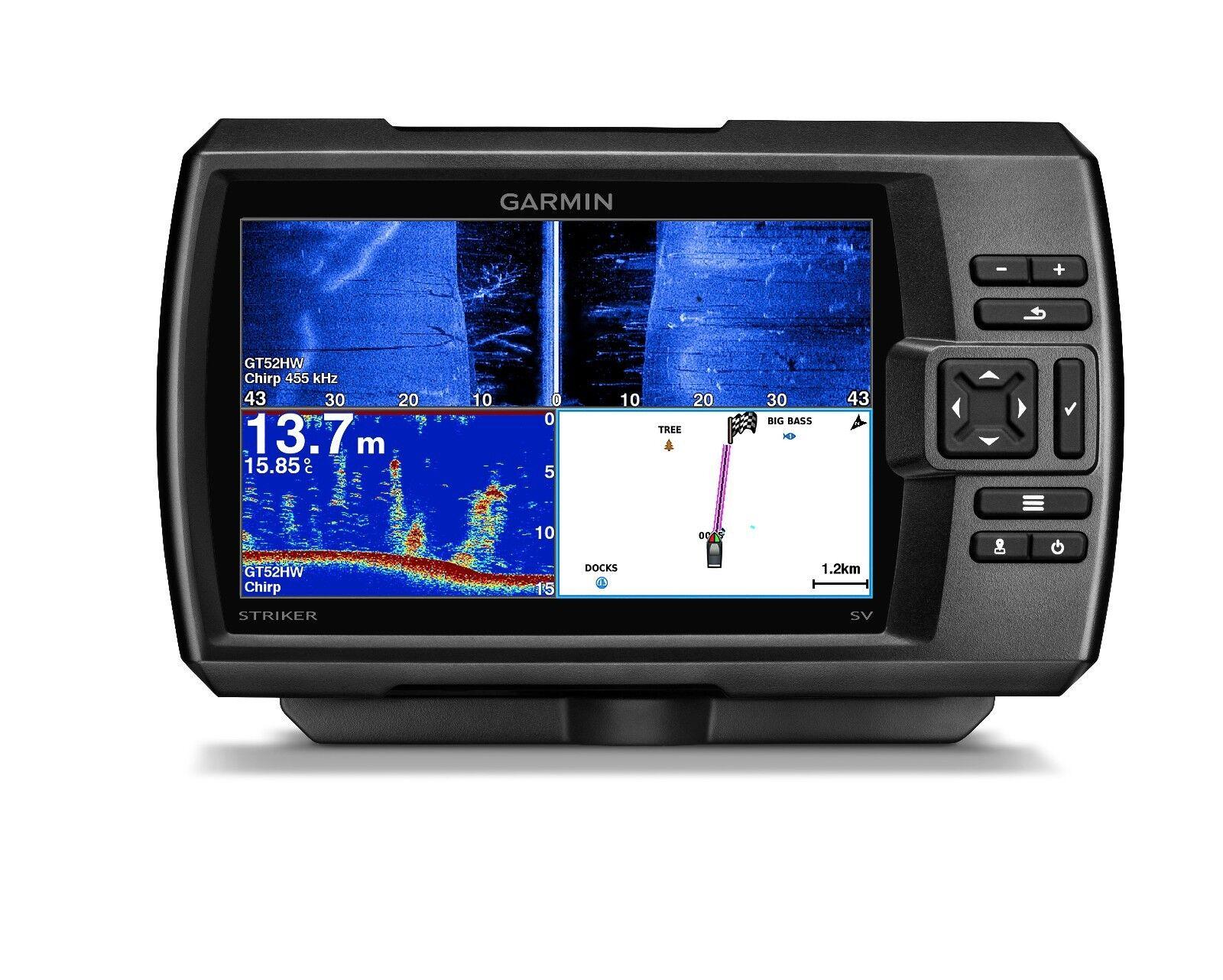"""Garmin Striker 7SV 7"""" Color Fishfinder GPS Track Plotter"""
