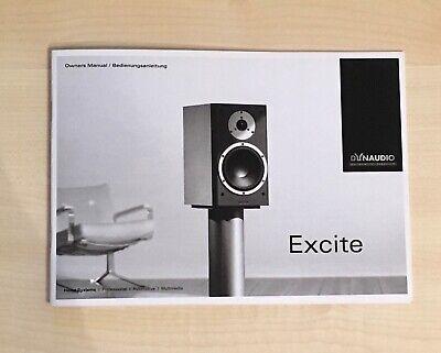 Dynaudio Excite X12, X16, X32, X36, X22 C BDA Anleitung D. E. Neu