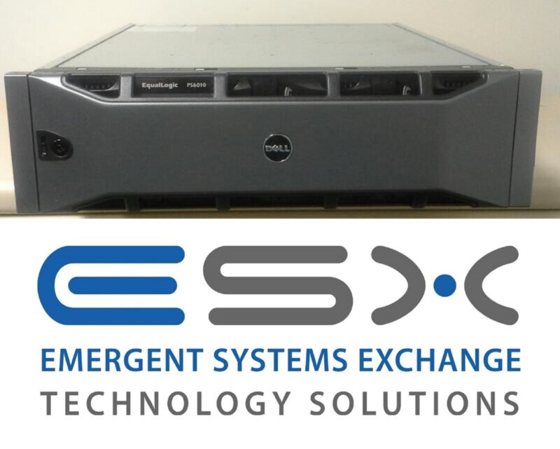 Dell Equallogic Ps6010e 16 X 1tb 7.2k Sata Hd 10g San Storage System