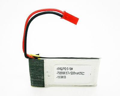 Bateria Lipo de 1200 MAH 25C 3.7V conector JST RC para Avion...