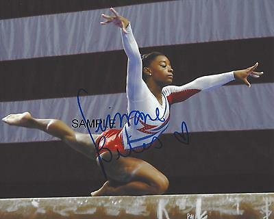 Simone Biles 1 Reprint 8X10 Autographed Signed Photo Picture Usa Gymnastics Rp