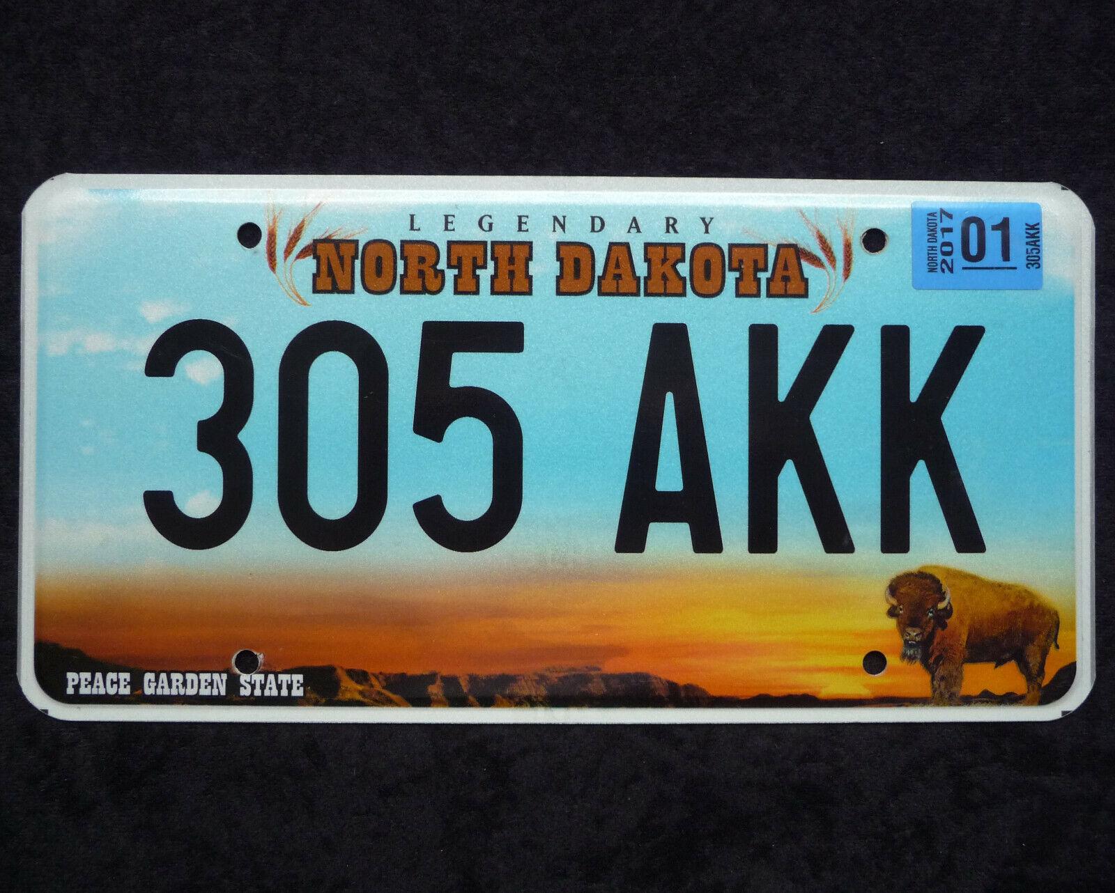 NORTH DAKOTA ★ PEACE GARDEN STATE ★ USA Auto Kennzeichen ★ Original! 305AKK