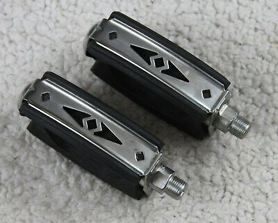 "NOS Vintage UNION 1//2/"" Lg REFLECTOR PEDALS 1972 Schwinn Stingray Style FULL SIZE"