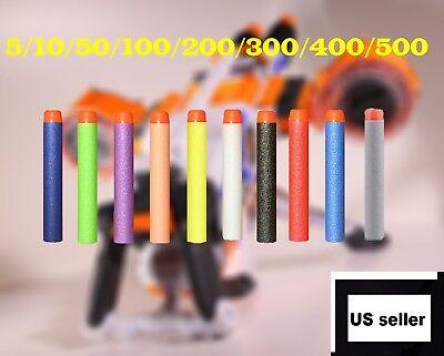 New Refill Foam Bullet Darts Blasters For NERF N-Strike Elite Kids Toy Gun US - Kids Toy Guns