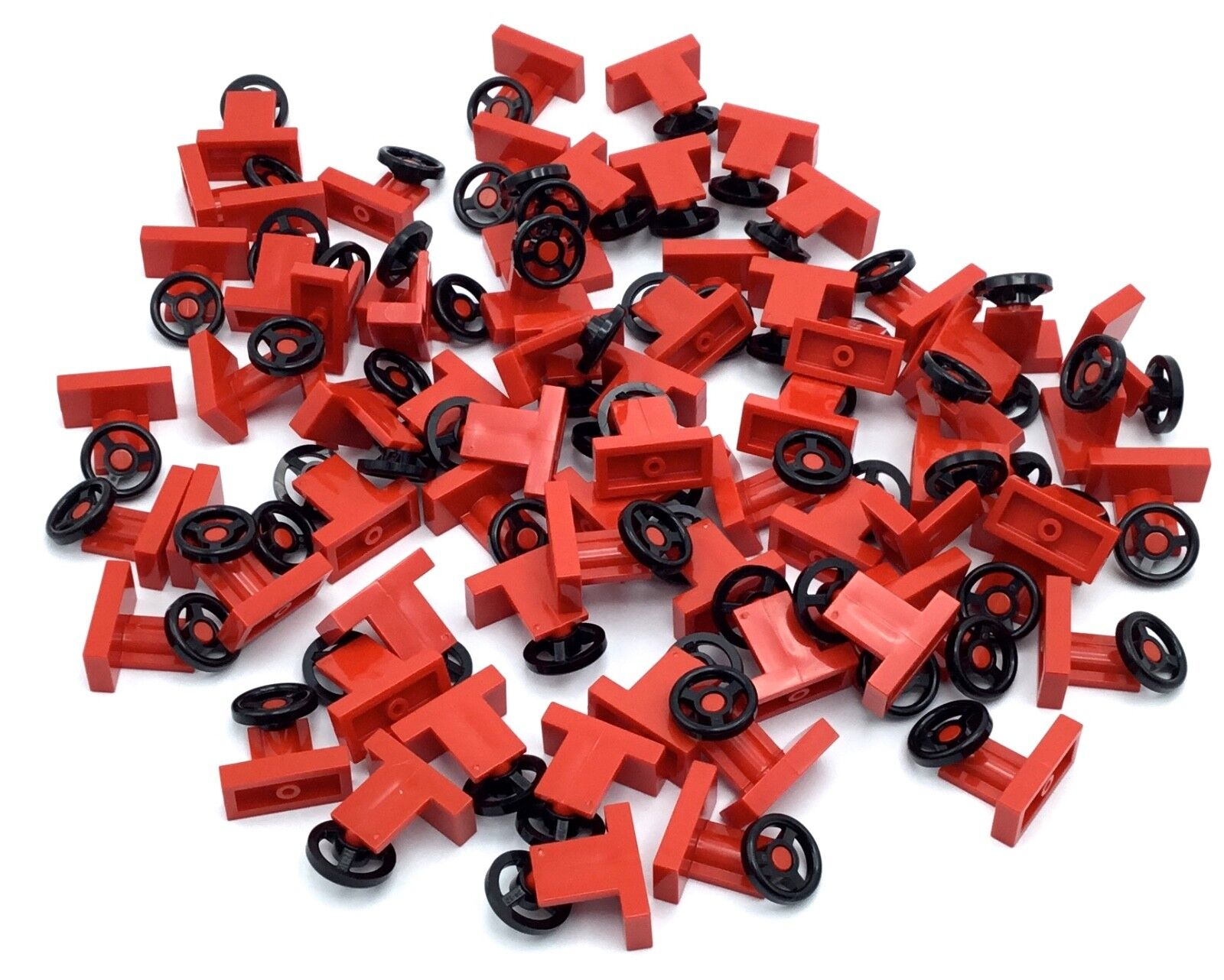 lot of new red steering wheel pieces