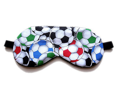 Masquerade Ball Favors (Sleep Eye Mask Soccer Ball Sport Nap Blindfold Boy Kid Shade Travel Cover)