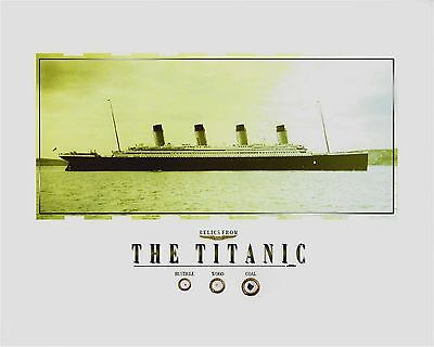 TITANIC relics, artifacts COAL, WOOD, RUSTICLE pieces from the RMS TITANIC 8x10