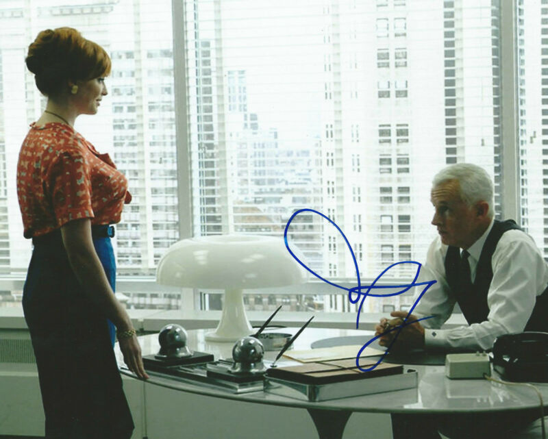**GFA Mad Men-Roger Sterling  *JOHN SLATTERY* Signed 8x10 Photo MH1 COA**