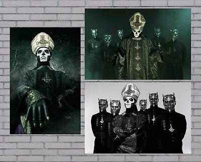 """Ghost Ceremony and Devotion Poster Set of 3 Papa Emeritus Ghouls 12x18"""" NEW"""