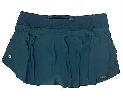 Lululemon Women's Quick Pace Skirt Skort Size 10 Green NWOT