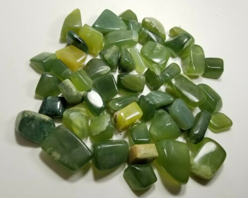 High Grade Green Serpentine Polished Tumblestones 700 grams