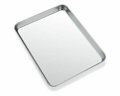 Toaster Oven Tray Pan, Zacfton Baking Surface Stainless Steel Cookie Sheet Easy