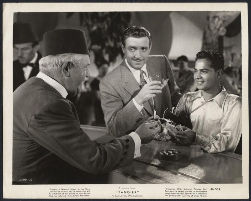 Tangier '46 ROBERT PAIGE SABU BARTENDER VERY RARE